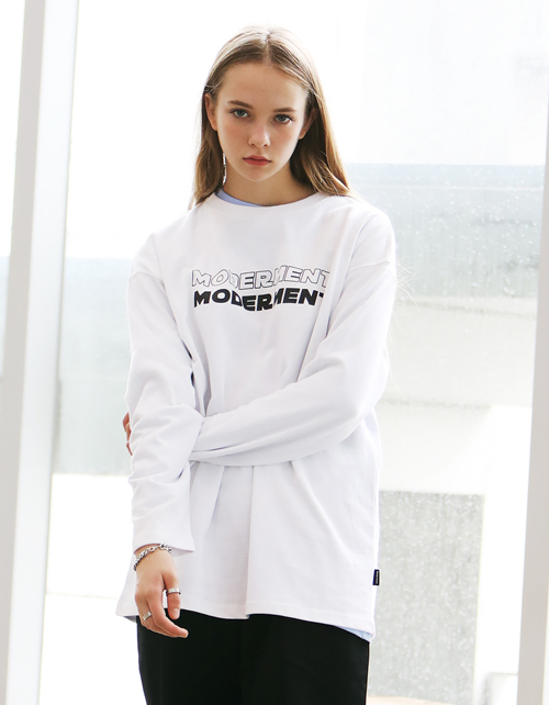 DOUBLE LONG SLEEVE T-SHIRTS(white)